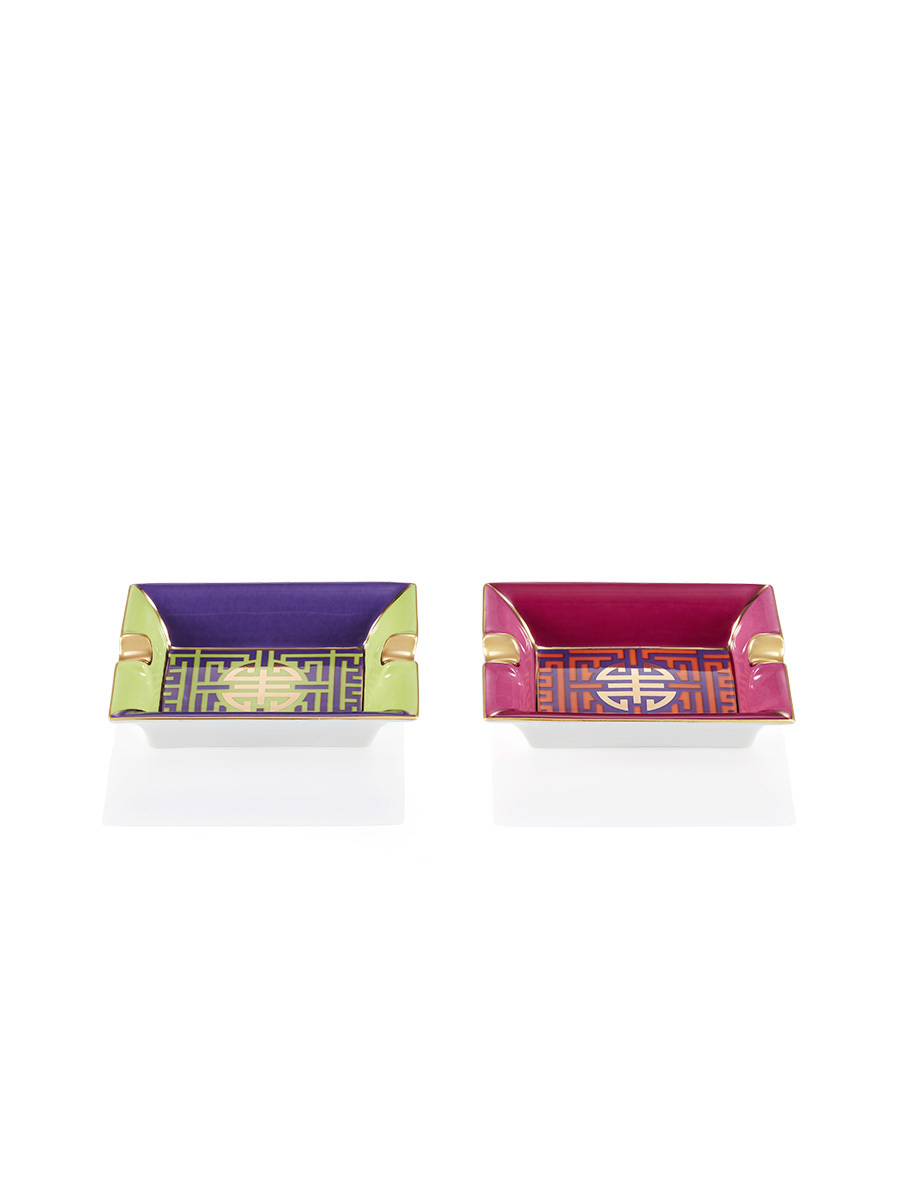 Colourblock Shou Mini Tray set of 2