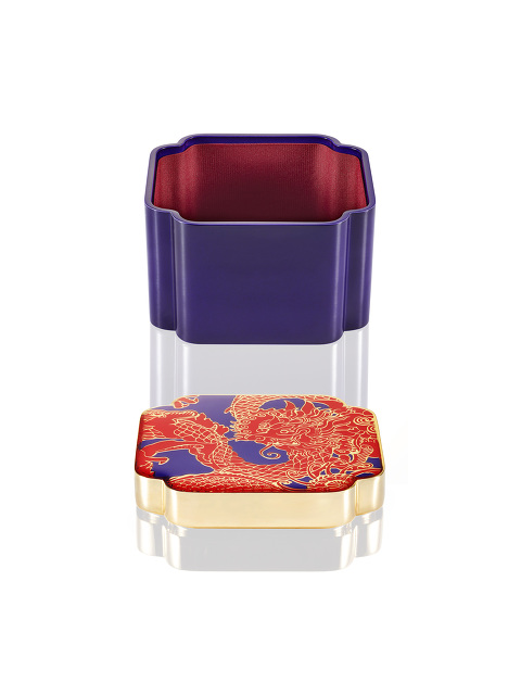 Vivid Dragon Square Enamel Box