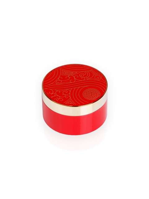 Prosperity Shou Round Enamel Box – Small