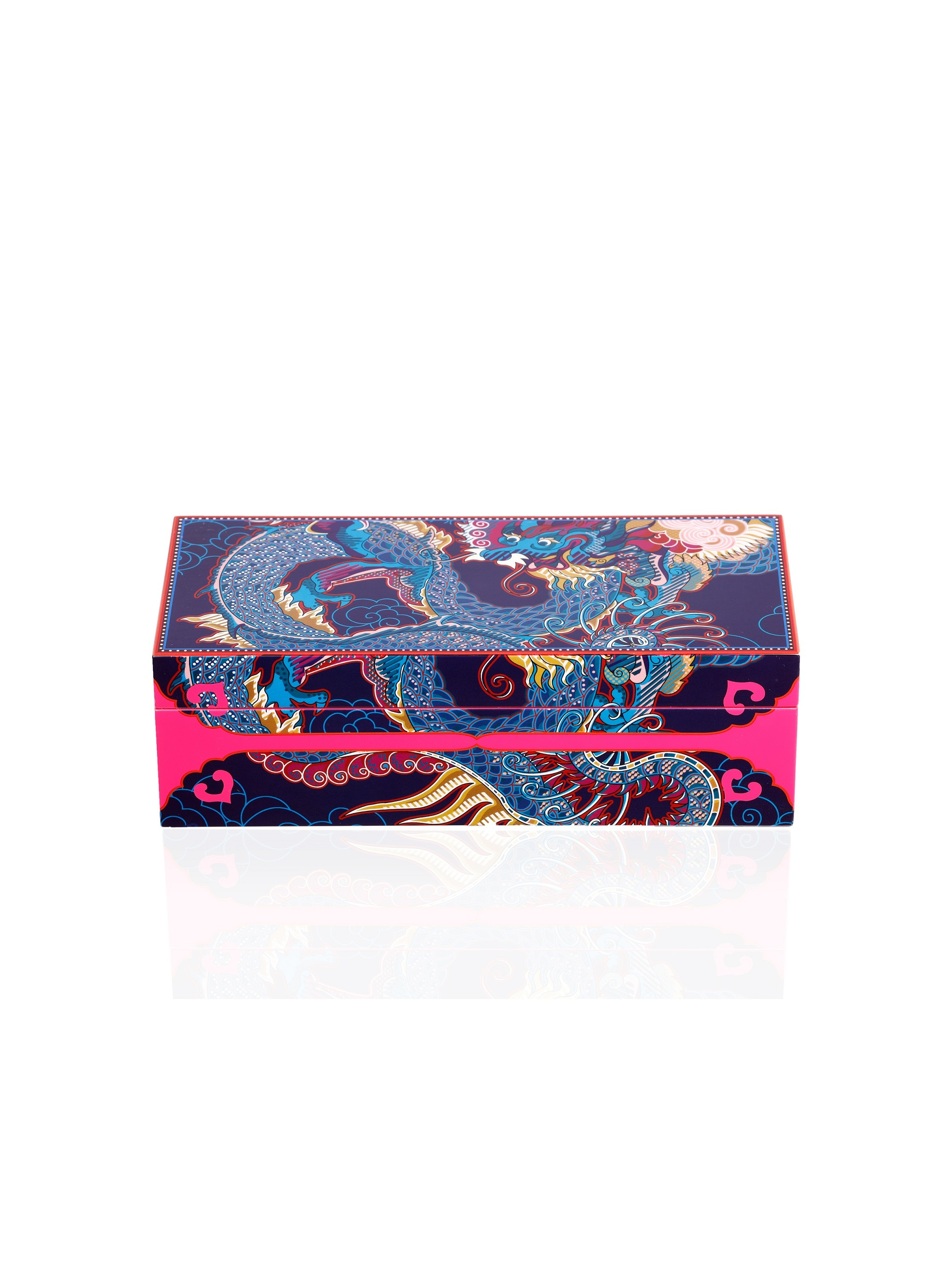 Vivid Dragon Lacquer Jewellery Box M