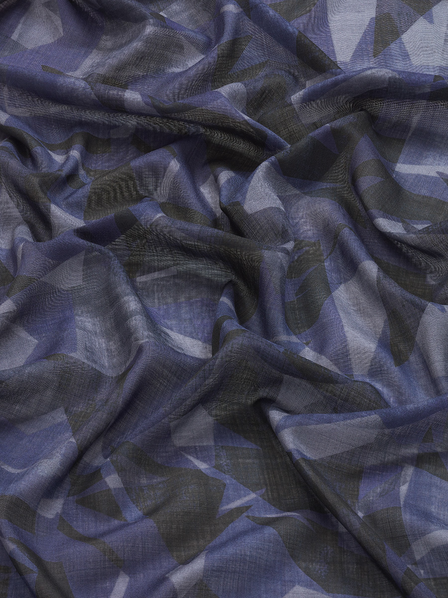 Star Wool Silk Scarf