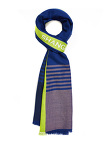 Vertical Stripe Signature Wool Silk Scarf