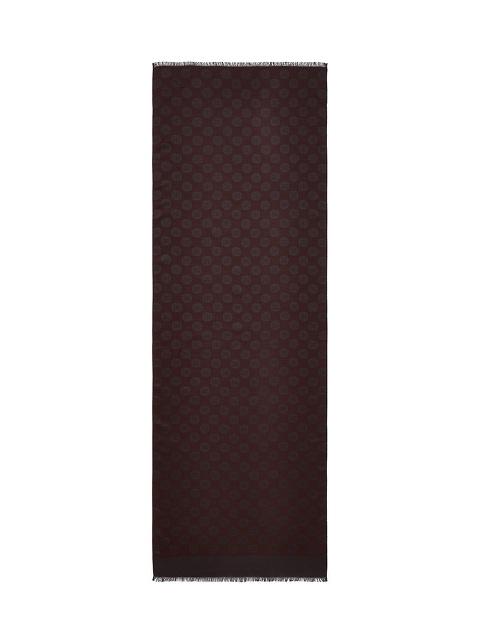 Shou Jacquard Silk-wool Scarf