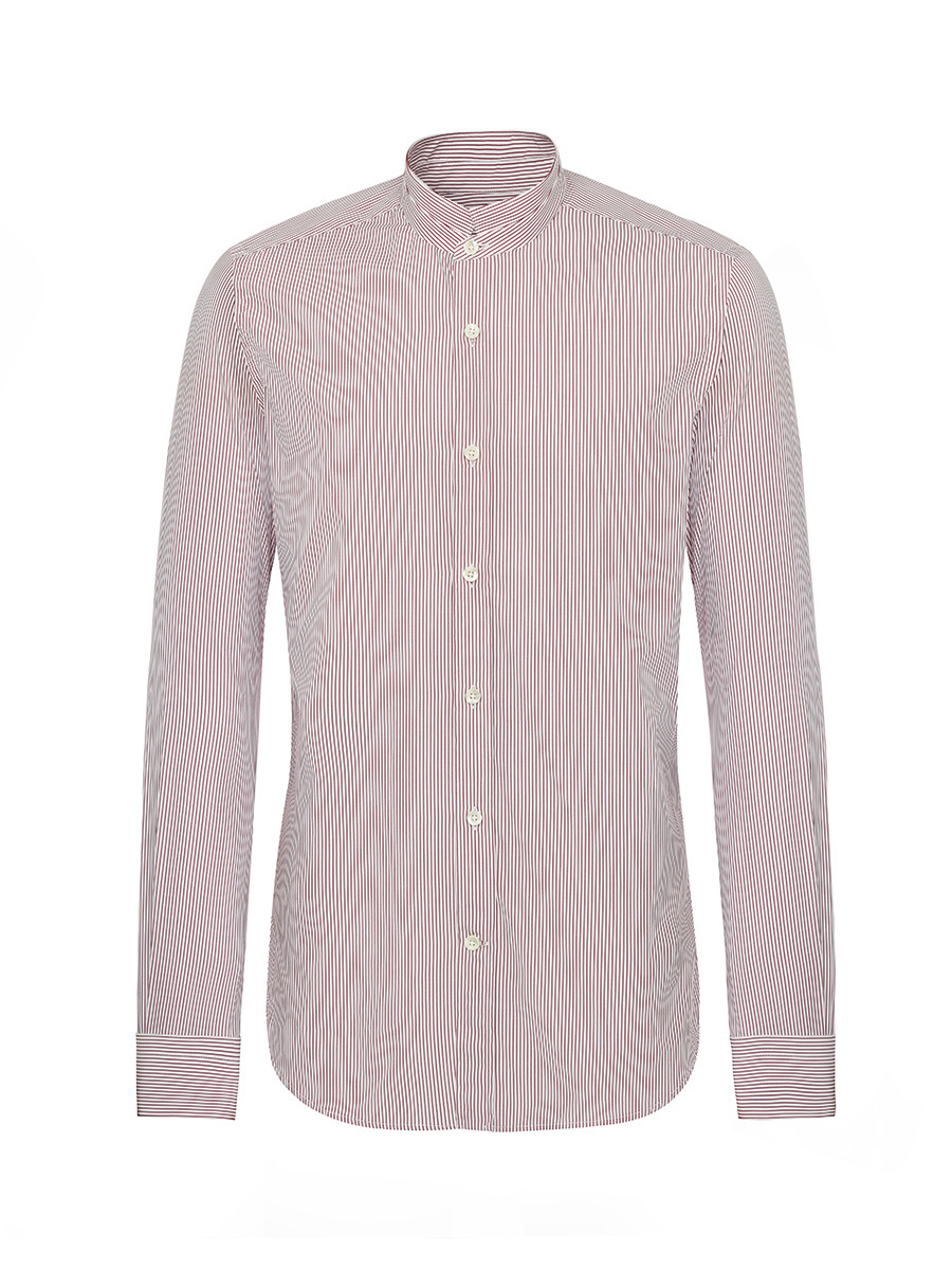 Striped Tip Collar Shirt