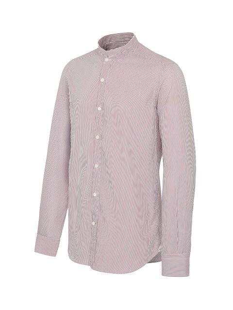 Striped Tip Collar Shirt