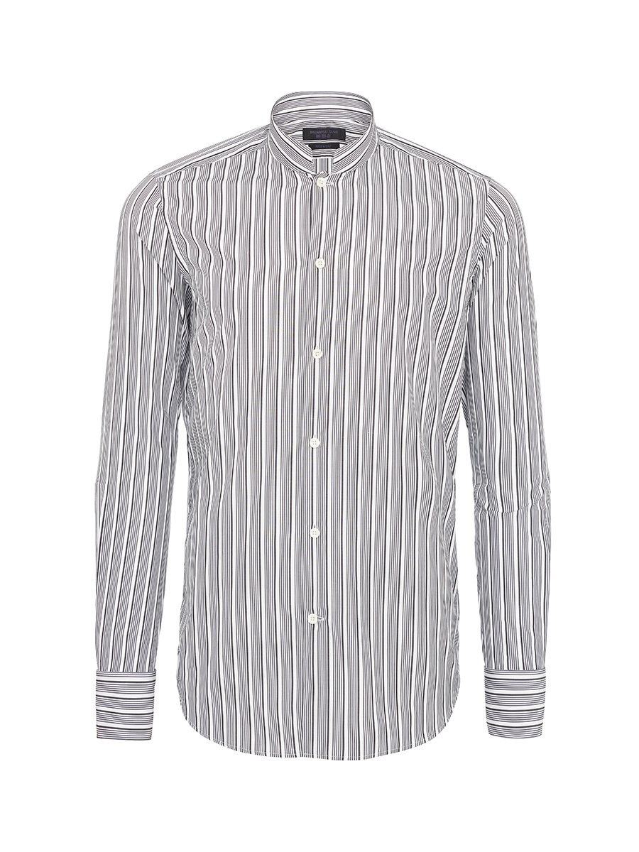 Mayfair Printed Mandarin Collar Shirt