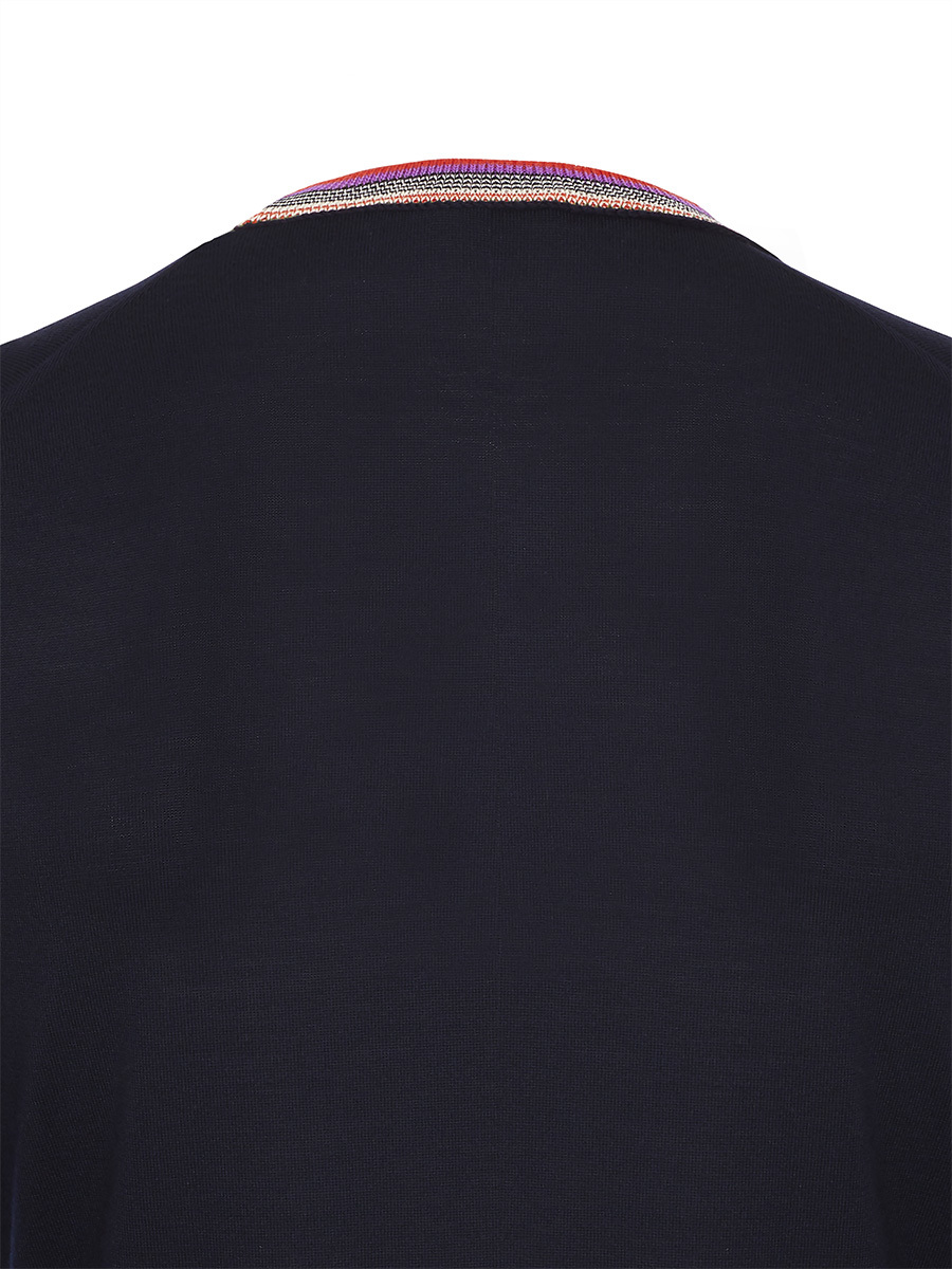 Multicolor Round Collar Sweater