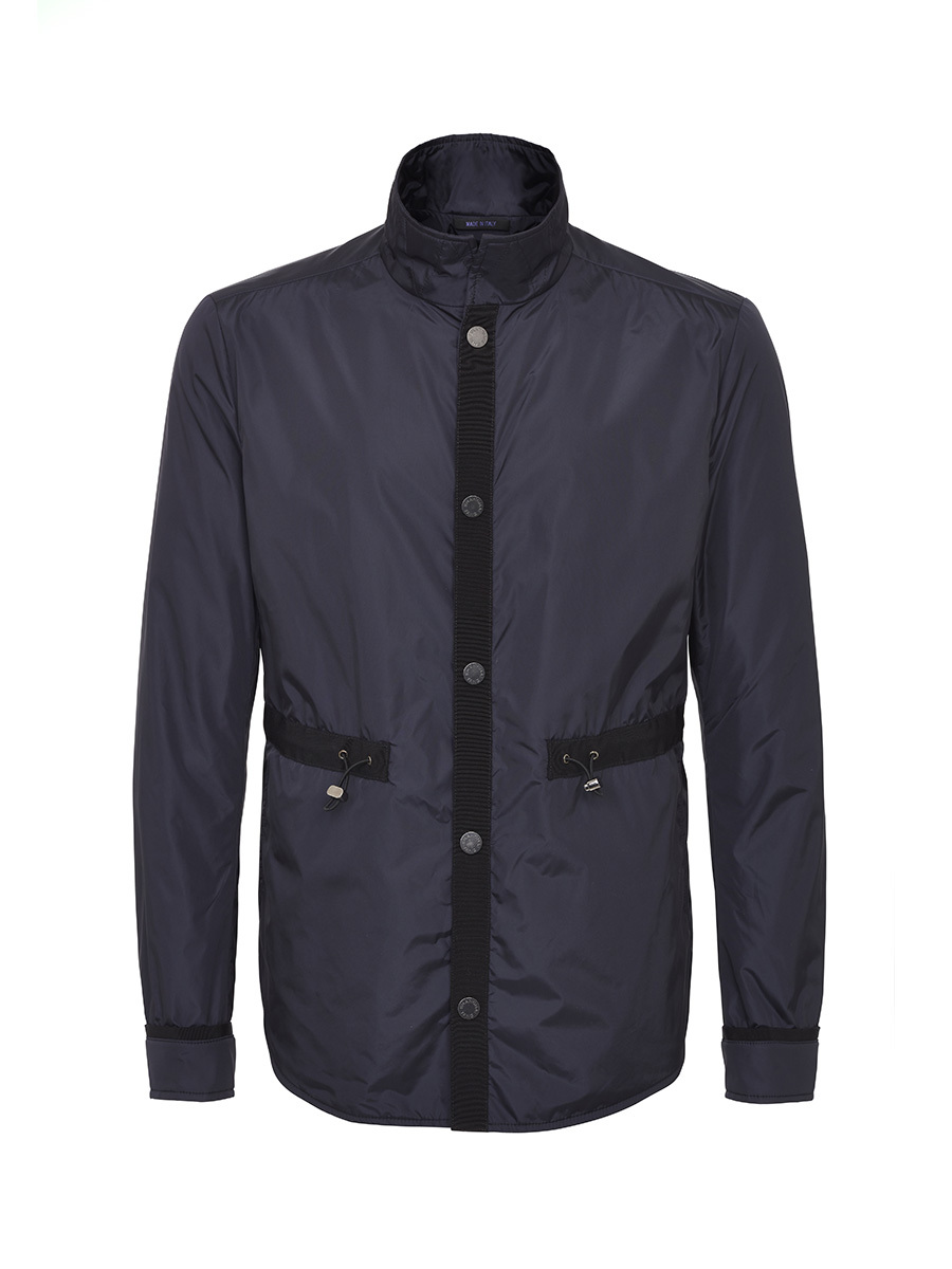 Nylon Jacket With Grosgrain Trim