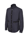 Nylon Jacket With Grosgrain Trim