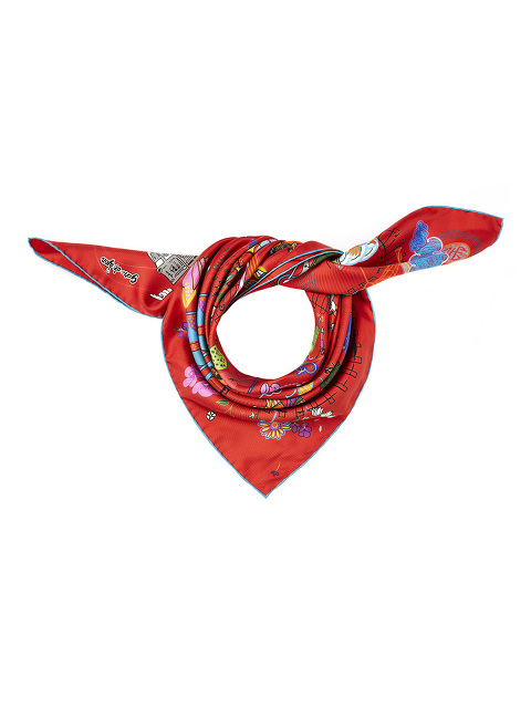 Journey Silk Twill Foulard