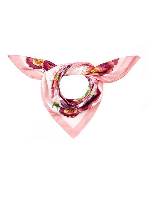 Flowers Silk Twill Foulard