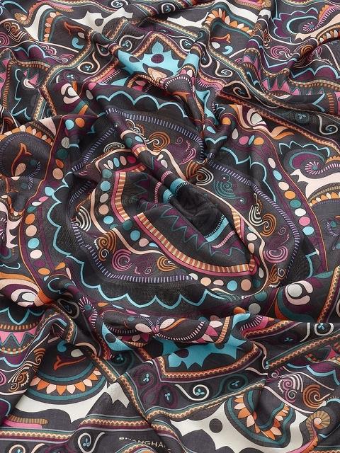Deco Print Wool-silk Scarf