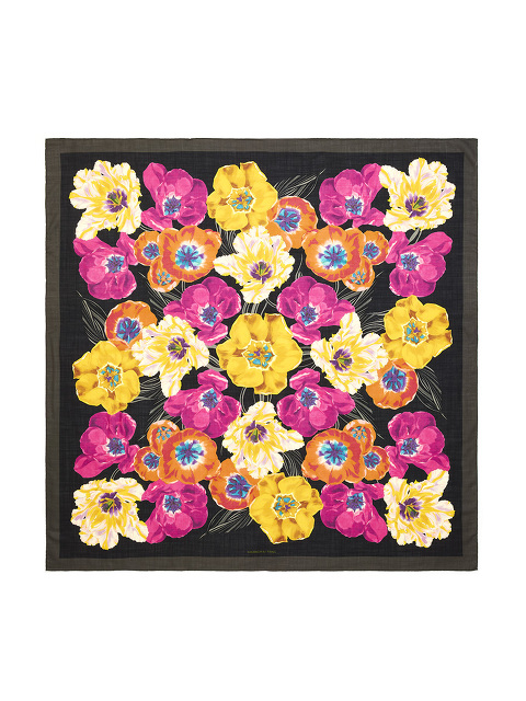 Flower Wool-silk Shawl