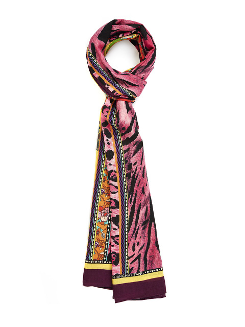 Lacquer Wool Silk Scarf