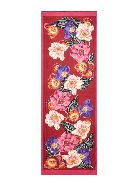 Flower Wool Silk Scarf