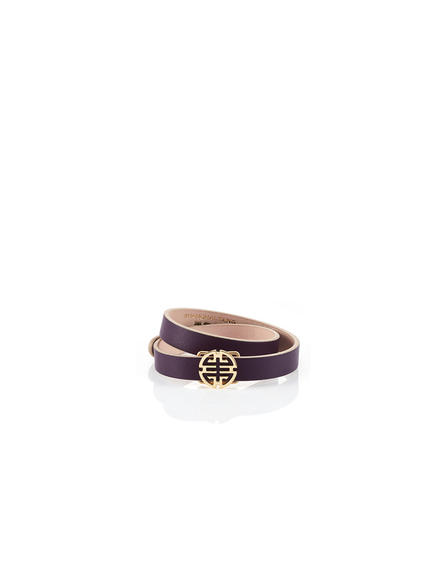 Shou Leather Gold Bracelet