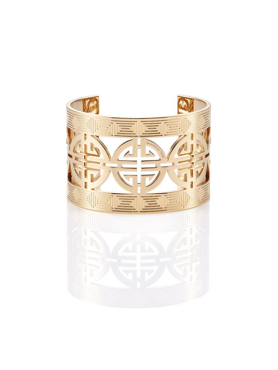 Round Shou Gold Rigid Bracelet