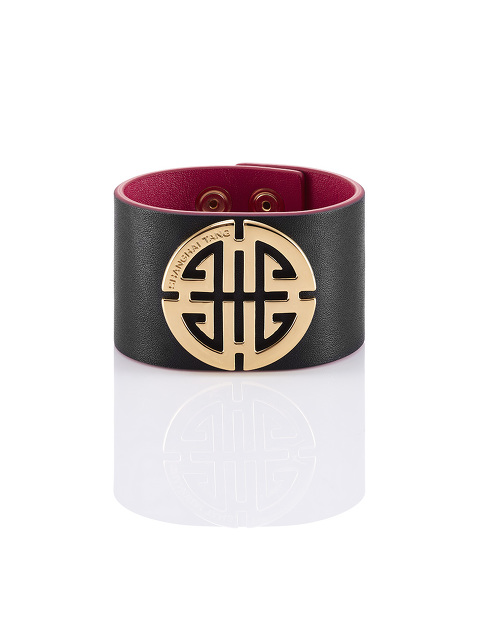 Shou Gold And Leather Bracelet