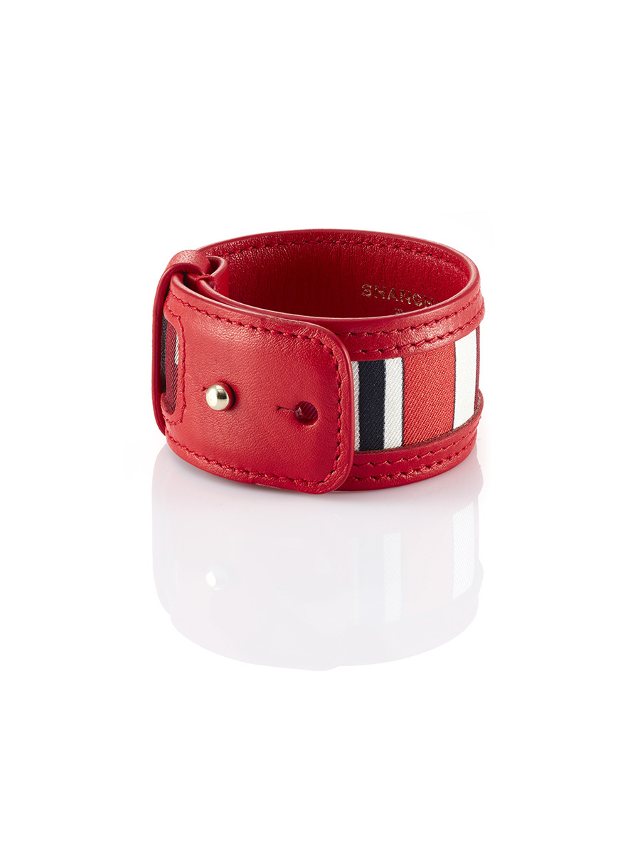 Leather And Silk Bracelet