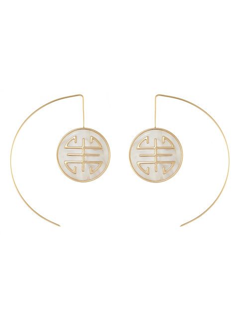 Gold Shou With Resin Earrings