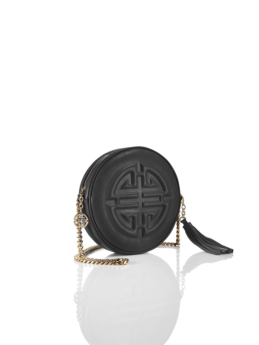 Embossed Shou Round Clutch