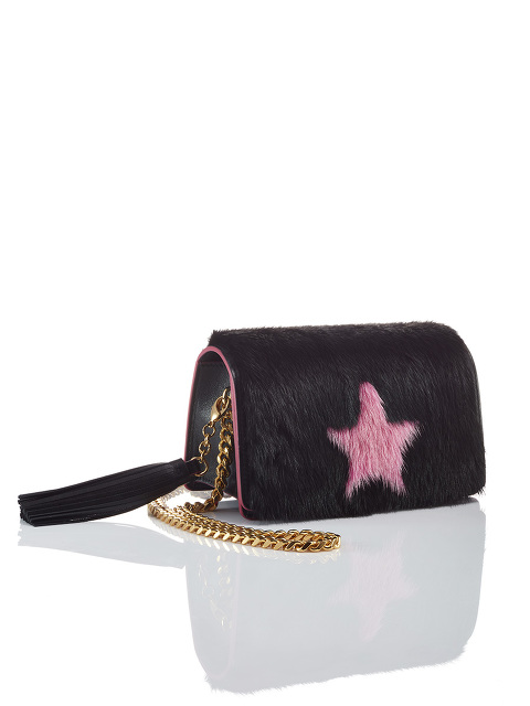 Star Fur Cross Body Bag