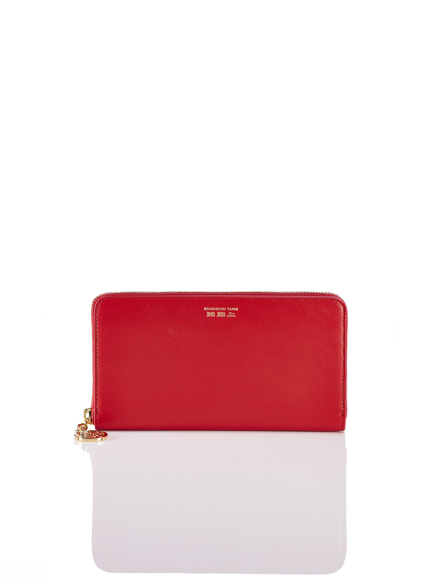 East-West Zip Around Wallet