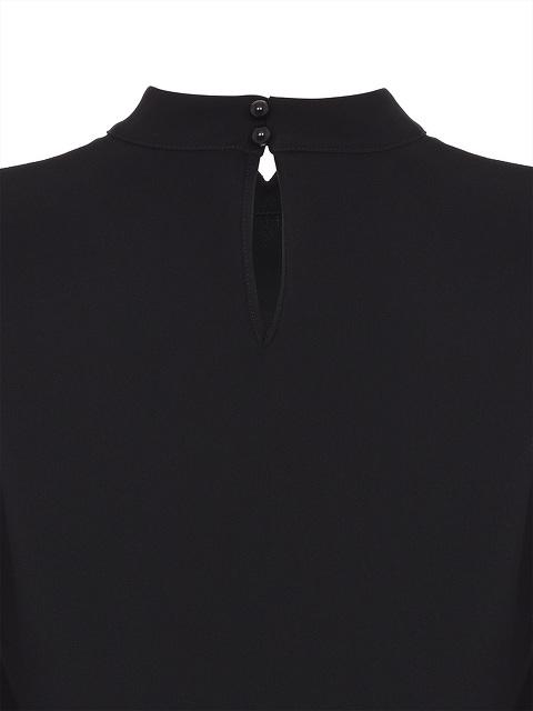 Mandarin Collar Blouse With Ruche