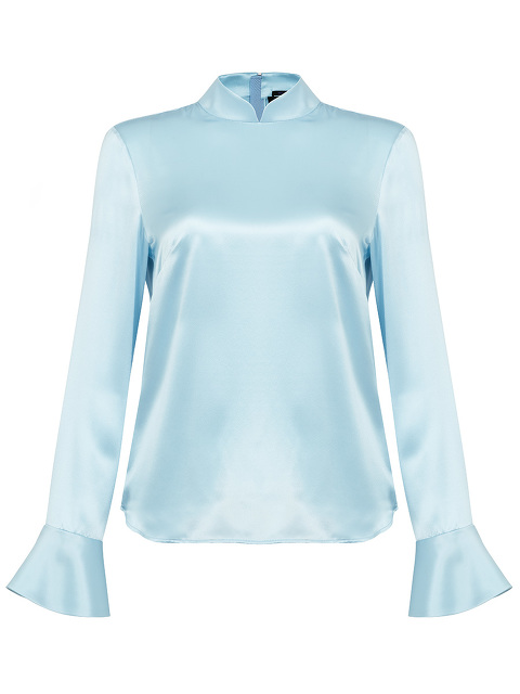 Mandarin Blouse With A Shaped Sleeve
