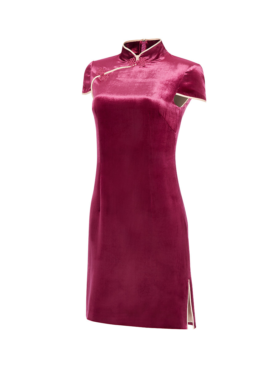 Velvet Qipao With Silk Lining