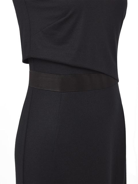 Mandarin Collar Jersey Dress