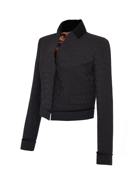 Stand Up Collar Short Jacket