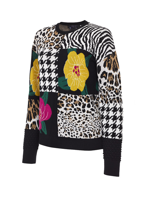 Animalier Patchwork Sweater
