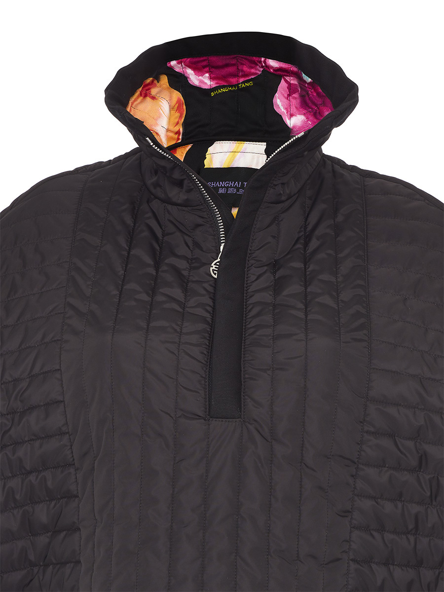 Quilted Cape With Side Laces