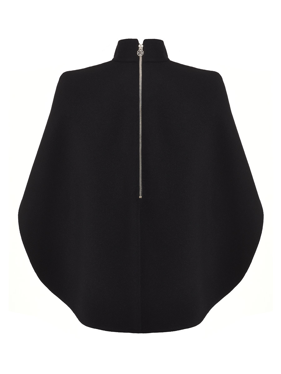 Short Cape Double Face Wool