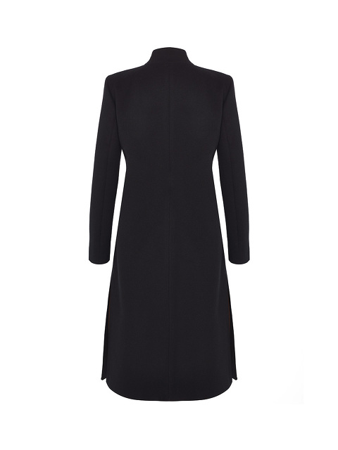 Asymmetrical Coat With Fastening On The Side