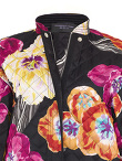 Flowers Silk Quilted Overcoat
