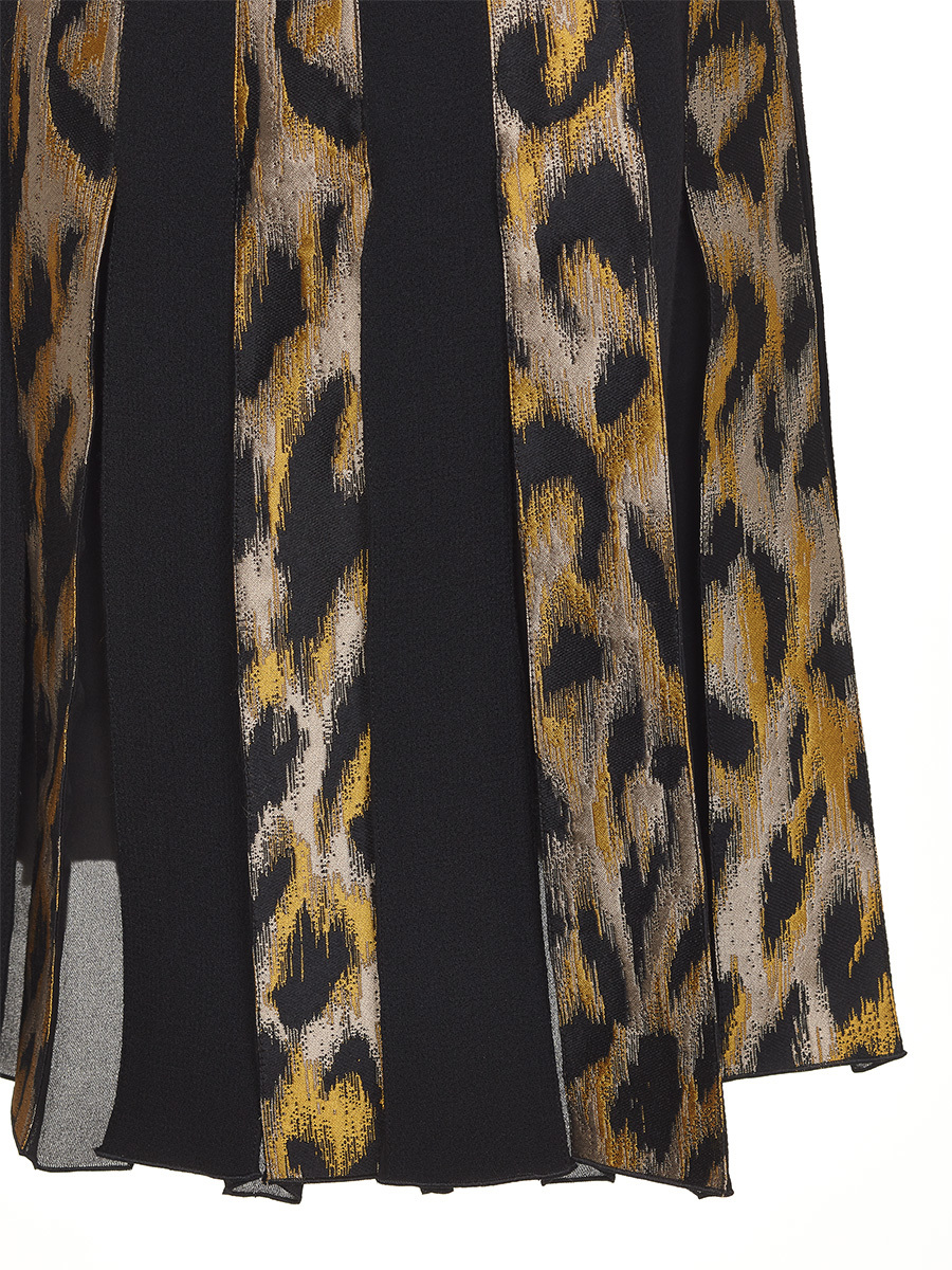 Pleated Skirt Animalier Print