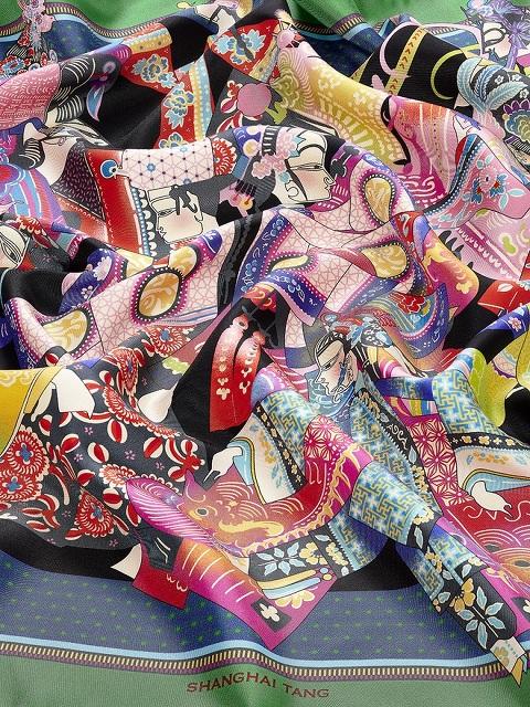 Puppets Print Silk Foulard