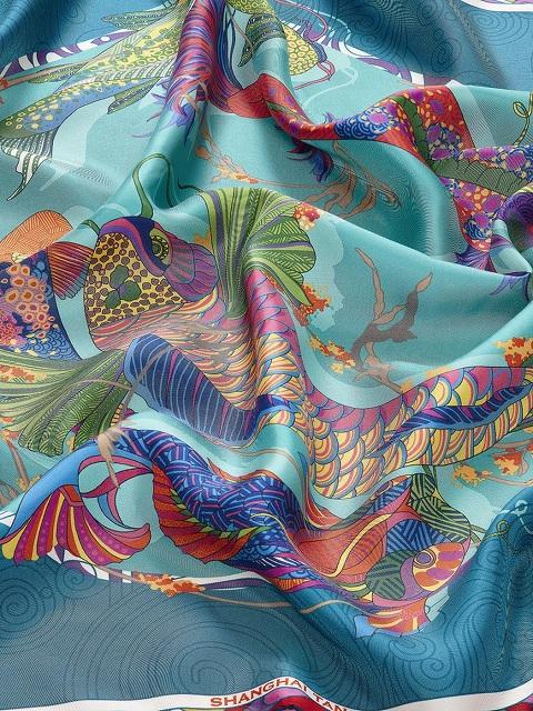 Pacific Print Silk Foulard