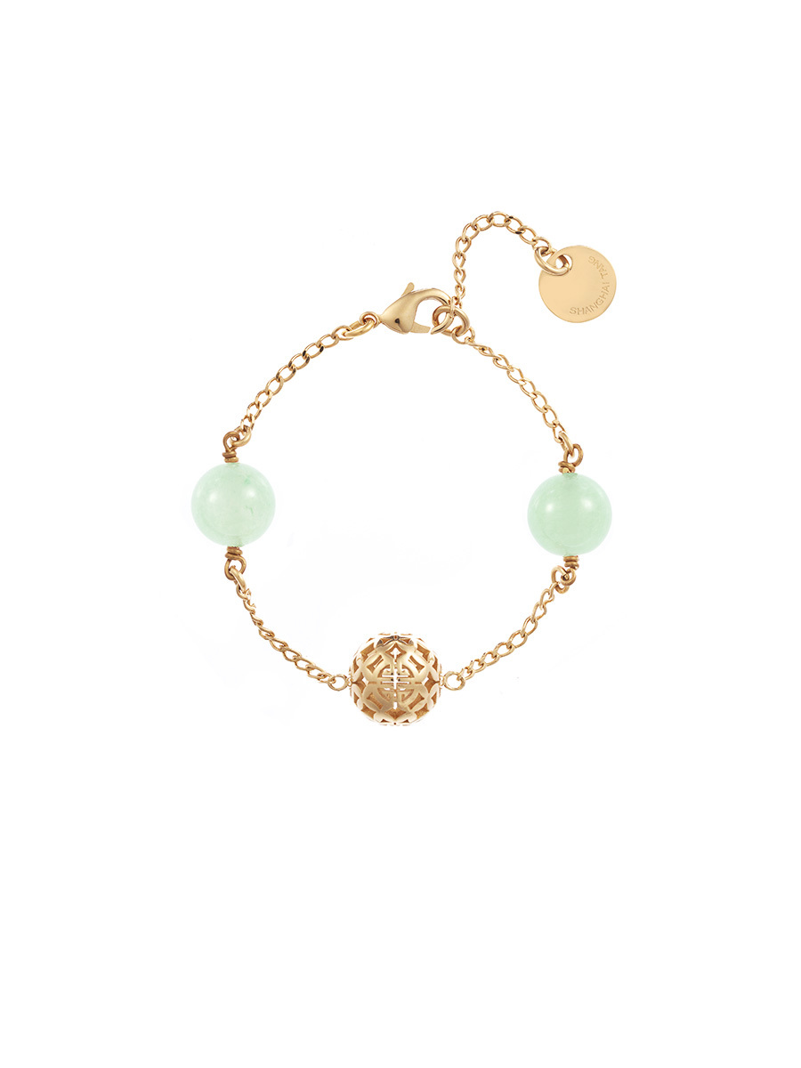 Chain Bracelet With Jade