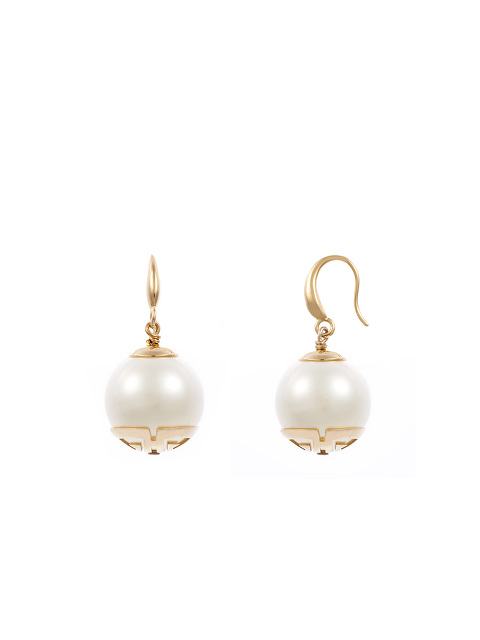 Faux Pearl Shou Earrings