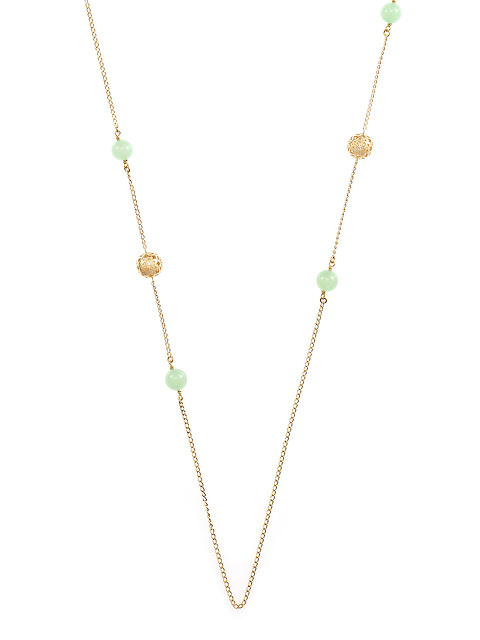Necklace Shou Sphere and Jade