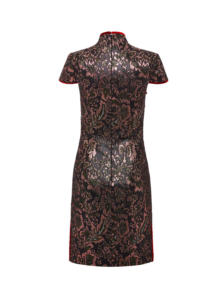 Lurex Jacquard Qipao Dress