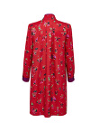 Chinese Jugglers Silk Twill Mandarin Collar Dress