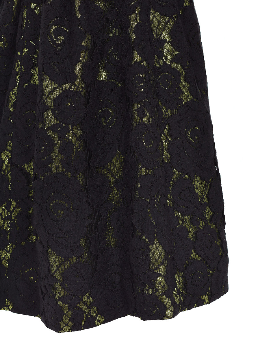 Lace And Lurex Short Dress
