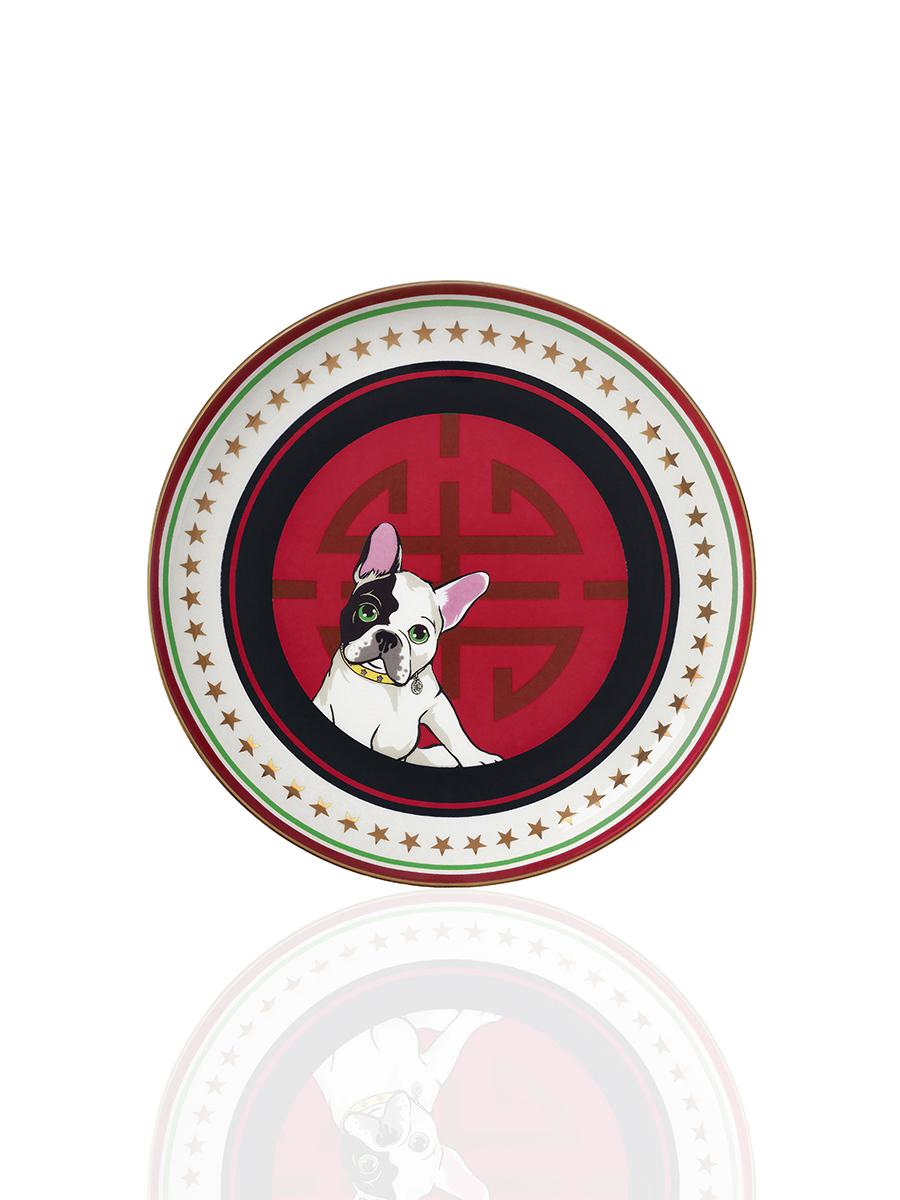 Laki Shou Fine Bone China Dessert Plate