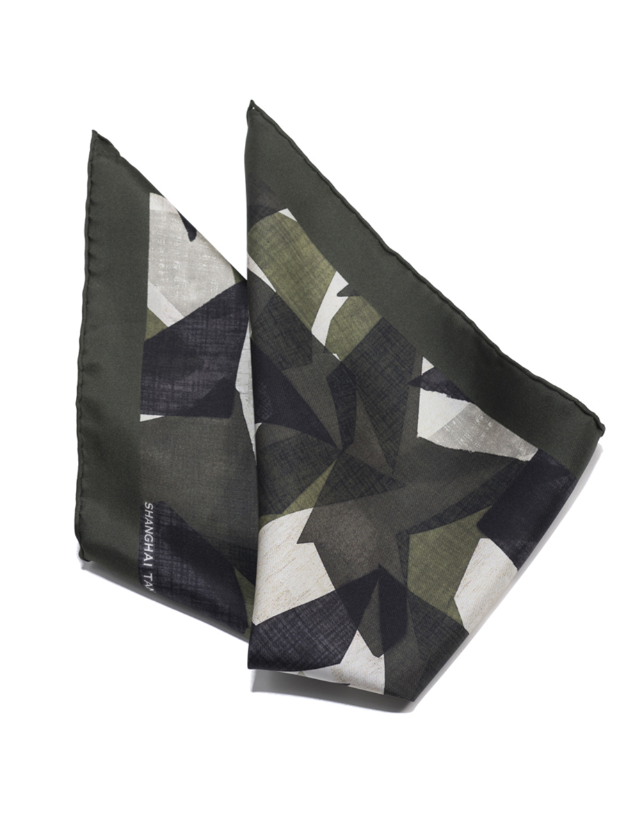 Star Silk Twill Pocket Square