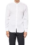 Linen Band Collar Shirt