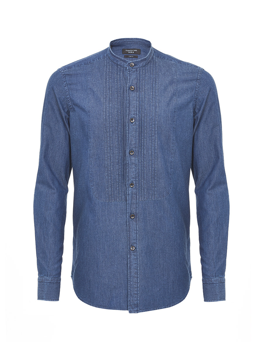 Denim Shirt With Bib